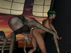 Short Haired 3d Babe Getting Fucked By An Alien Spider