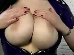 Busty Beauty Giving A Handjob