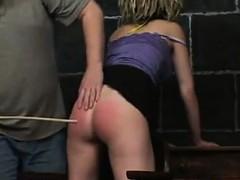 Cute Girl Getting Spanked