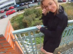 Fucking Glasses – Blonde Cutie Tricked Into Outdoor Sex