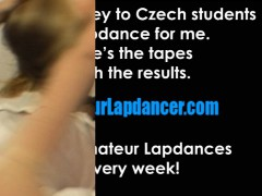 sexy czech student does sweet lapdance Striptease