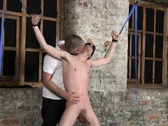 Sexy Men With His Mild Testicles Tugged And His Knob Masturb