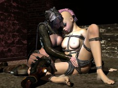 Tied Up 3d Hentai Lezzy Girl Gets Fingered And Licked
