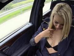 Damn Euro Girl Christen In Outdoor Sex