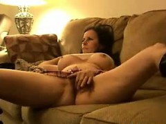 Rubbing My Hairy Pussy On The Couch