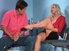Sexy Blonde Babe Gets Her Feet Rubbed Part4