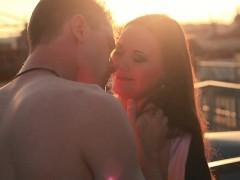 Porn Valentine Rooftoop Romance And Romantic Hardfucking