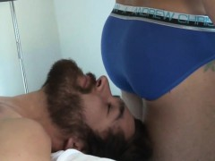 Muscular Gay Hunk Cums On Bf In The Morning