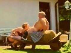 German Couple On A Farm Fucking Outside