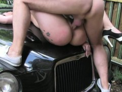 Sexy Chick Sasha Trades Sex For A Ride