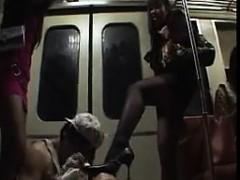 Feet Worshipping During A Subway Ride