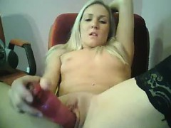 Sweet Blonde Masturbates With Her Toy