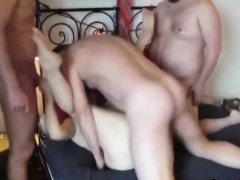 Mature Woman In A Foursome With Three Guys