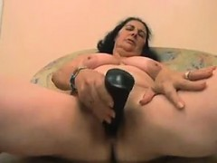 Fat Granny Masturbates With Her Dildo