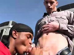 Black Gay Dude Sucks Cock For Cash Outdoors