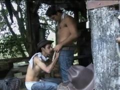 Gay Latino Cowboy Fuck His Man