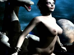 3d Babe Getting Fucked Hard By An Alien Monster