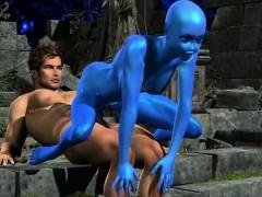 human-fucking-3d-blue-alien-girl