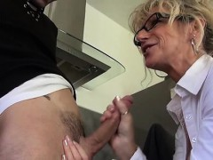 French Mature Marina Fucked In Stockings
