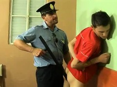 Handcuffed Twink Gets Fucked Anally By A Mature Cop