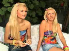 two-blonde-fairies-in-the-yard
