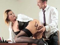 Mad Blonde Office Babe Turns Into Horny Bitch And Have Sex