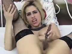 Blonde Cam Whore With A Hairy Pussy