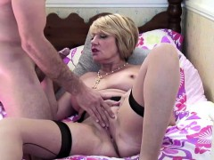 lusty busty mature fucks a young stud Hot