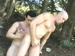 Outdoor Hardcore Anal Fucking By Two Latino Gay