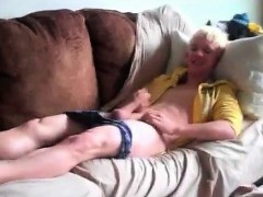 Blond Twink Yanking And Cumming