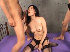 Yui Komine Has Aroused Cunt And Mouth Filled With Cocks And