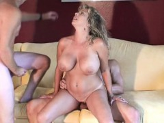 sexy swinger milf blows and nails 2 guys