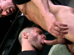 Mature Hunk Bent Over Doggystyle And Fucked