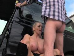 Femalefaketaxi Busty Driver Swallows Actor's Cum