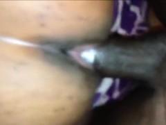 Ebony Couple Having Vaginal Sex Closeup