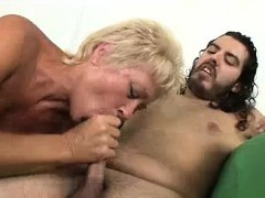 Horny Milf Wants To Suck Model's Big Cock