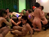 Euro college teens in sticky dorm room orgy