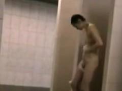 Unaware Amateurs Filmed In Shower Room