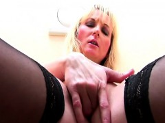 Huge titted mature analized at a Gloryhole
