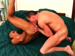 Interracial Lovers Putting Their Lips To Work On Each Other's Big Rods