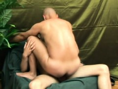 Bald Headed Stud Screams With Pleasure While Getting Banged In The Ass