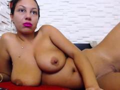Busty Brunette Slut On Teases Humor And Cam Stripteasing