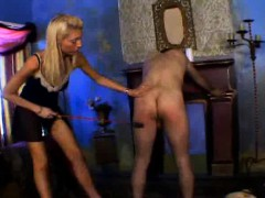 Dominatrix Makes His Guys Ass Red