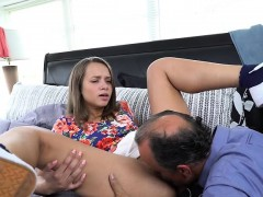 Cutie Liza Rowe Has Oral Sex With Dads Buddy