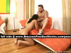 Talented Sexy Brunette Chik On The Couch Gets Fucked Hard