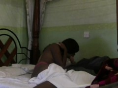 Passionate African Girl Bounces On White Dick