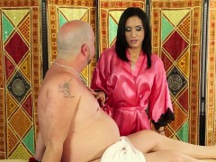 Brunette Massages Dick