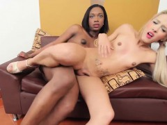 Adorable Trannies Kimberly And Maria In Interracial Sex