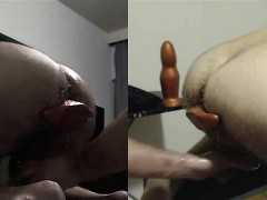 Sir Training My Hole With His Fist, Xxxl Plug , Bullet Dild