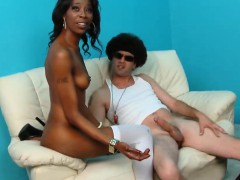 Ebony Slut Video Casting For Her First Porn Role